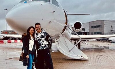 Bell Bottom: Akshay Kumar, Vaani Kapoor Fly Back Home After Wrapping Up the Shoot of Their Espionage-Thriller (See Pic)