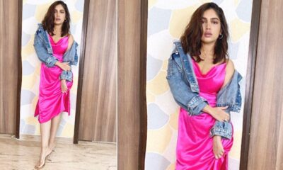 Bhumi Pednekar Slipped Into a Hot Pink Dress and Then Layered It With a Denim Jacket, Chic AF Is What It Is!