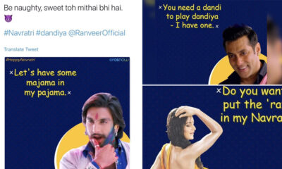Eros Now Issues Apology and Deletes 'Offensive' Navratri Memes of Salman Khan, Katrina Kaif and Ranveer Singh, After Twitter Trends #BoycottErosNow (View Post)