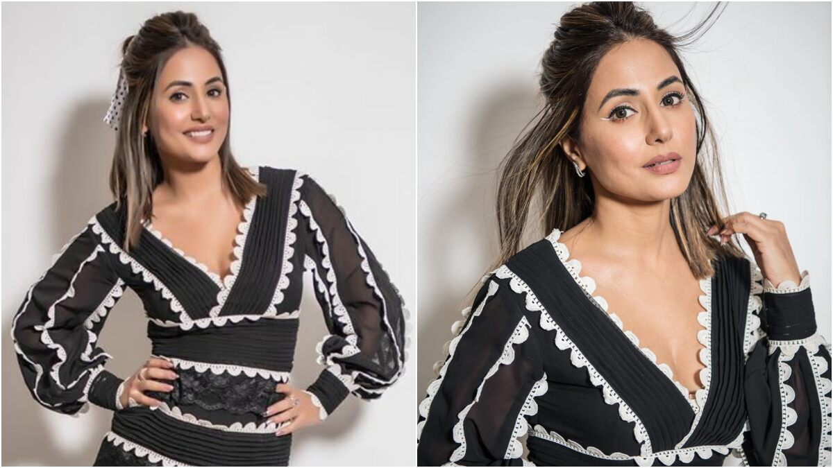 Hina Khan's Cutesy Monochrome Dress For Bigg Boss 14 Can Be Yours For Rs 23,000 (View Pics)