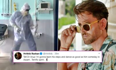 Hrithik Roshan Reacts To Viral Video of Assam Doctor Grooving to Ghungroo, Appreciates Surgeon's 'Terrific Spirit'