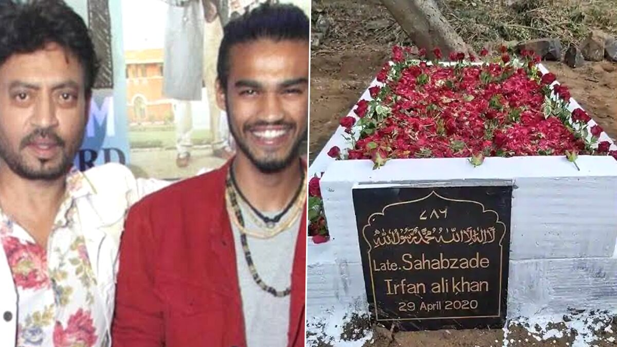 Irrfan Khan's Son Babil Shares Image of Late Actor's Grave Decorated with Roses (See Pic)