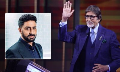 KBC 12: Abhishek Bachchan Shares Father Amitabh Bachchan's Pic from the Sets of Sony TV Show, Calls His Work Mantra an Inspiration