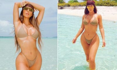 Kim Kardashian Sizzles in her Gold Bikini and Makes 40 Look Like the New 20 (View Hot Pics)