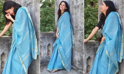 Kirti Kulhari Is Giving a Blue Cotton Saree a Humble Spin With a Black Blouse!