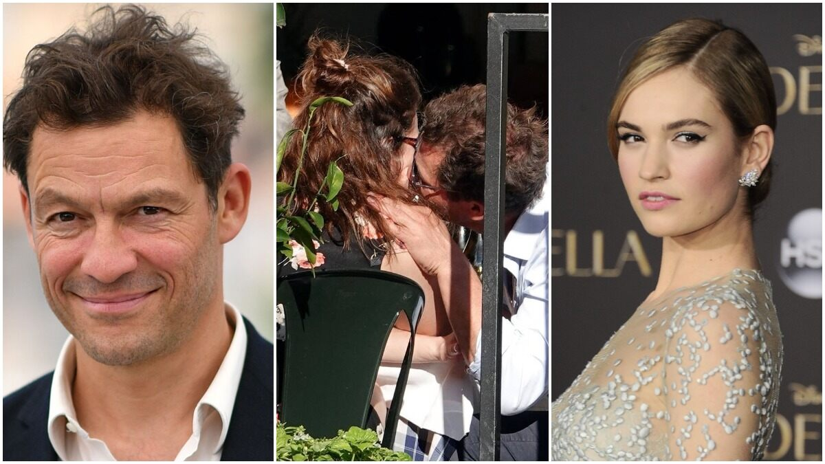 Lily James and Married Co-Star Dominic West's PDA Pictures from their Roman Holiday Go Viral on the Internet