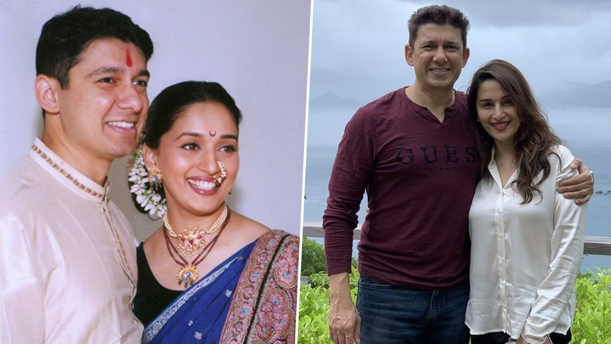 Madhuri Dixit and Husband Sriram Nene Celebrate 21st Marriage Anniversary by Sharing a 'Then and Now' Throwback Pic