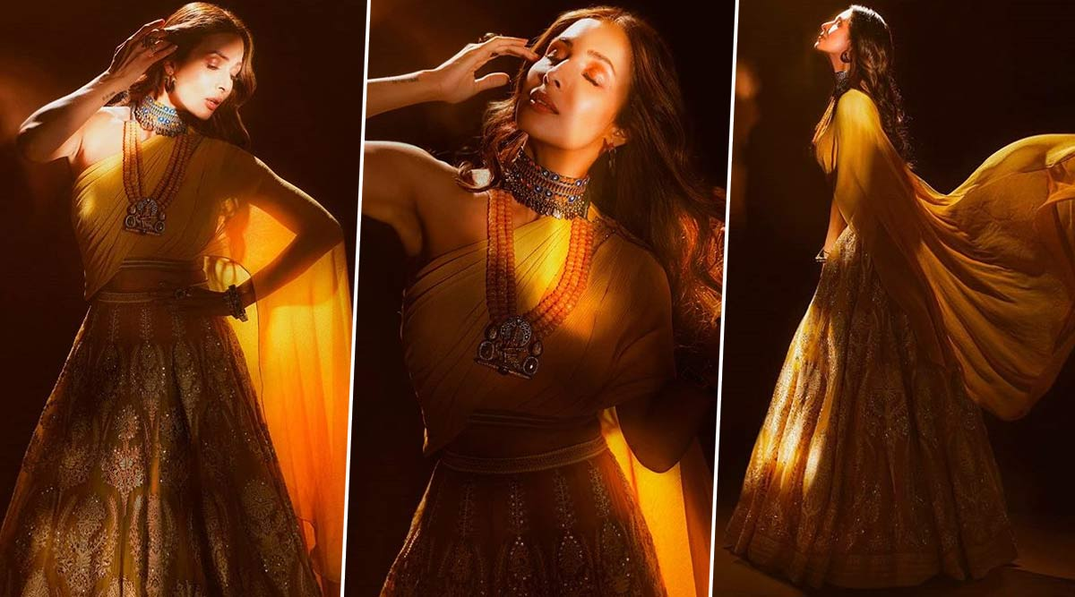 Malaika Arora Turns into a Mystical Muse for Tarun Tahiliani as She Resumes Shooting for India's Best Dancer (View Pics)