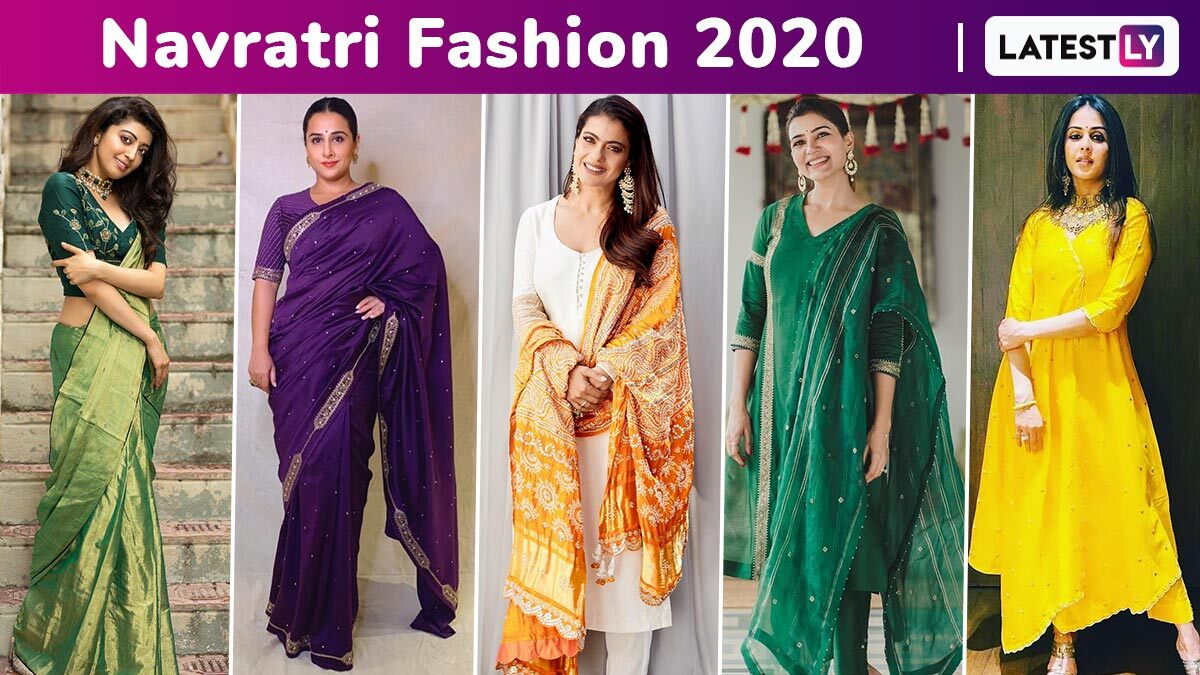 Navratri 2020 Colours & Fashion: Celebrity-Approved Stay-at-Home, Look Festive Chic Colourful Simple Style Ideas!