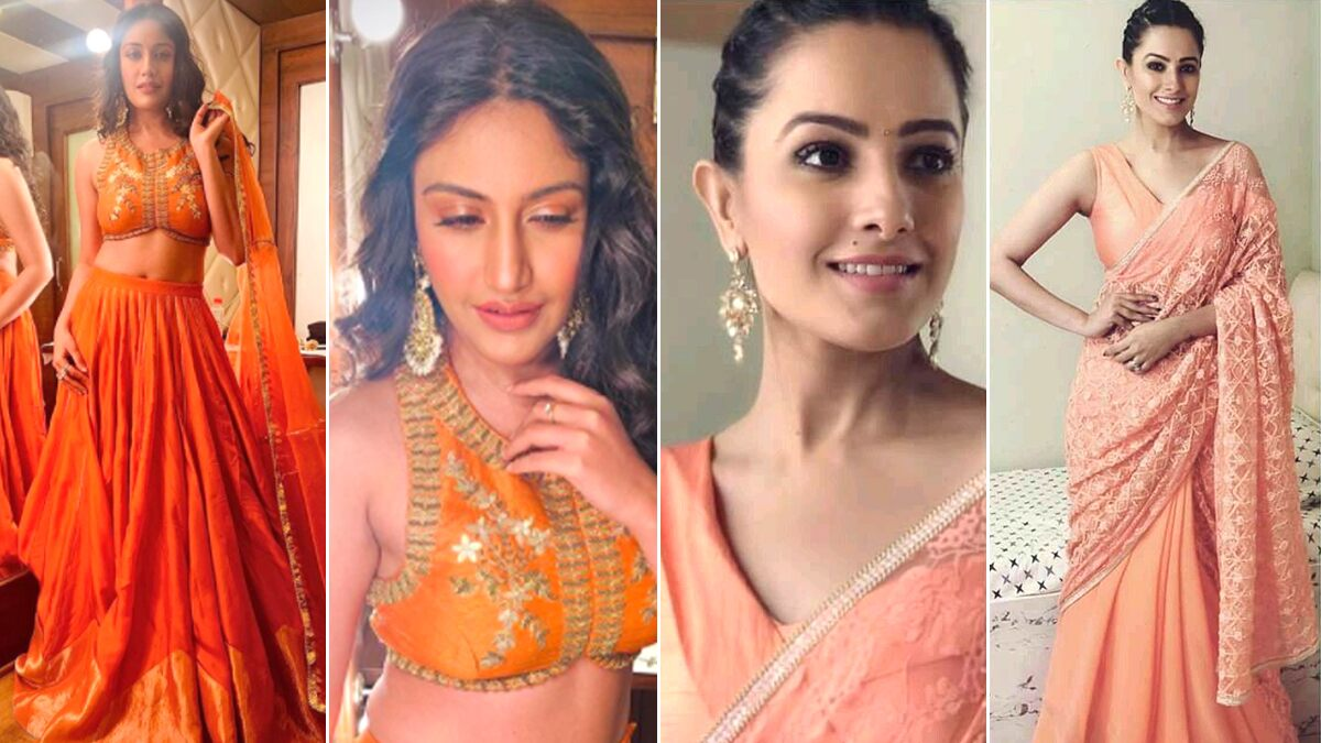 Navratri 2020 Day 2 Colour Orange: Surbhi Chandna or Anita Hassanandani, Whose Traditional Pick Will You Like to Own? Vote Now