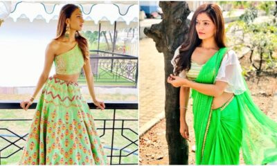 Navratri 2020 Day 7 Colour Green: Rubina Dilaik or Erica Fernandez, Whose Traditional Avatar Will You Like to Ape?