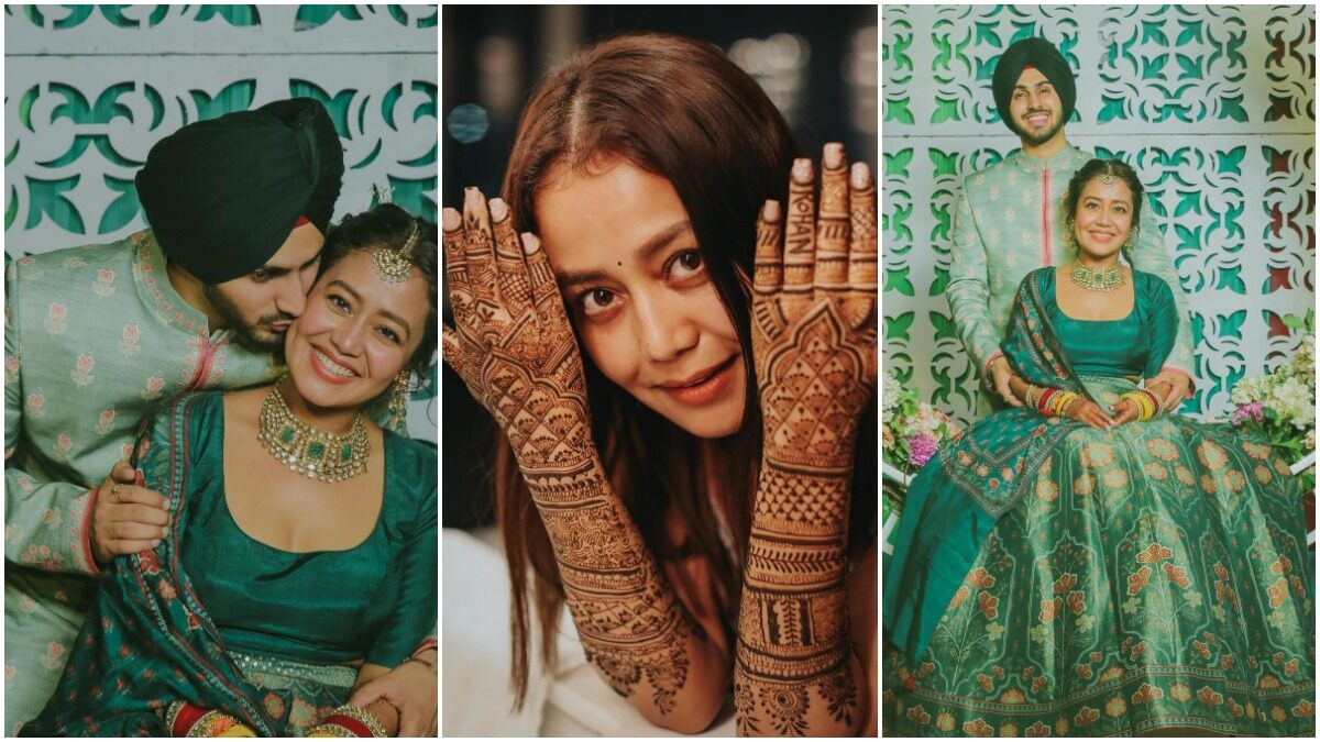 Neha Kakkar And Rohanpreet Singh Share Pictures From Their Mehendi Ceremony Ahead Of The Grand Wedding!