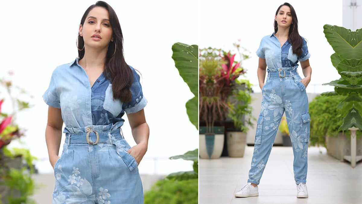 Nora Fatehi Is Giving the Double Denim Trend a Floral Fabulosity!