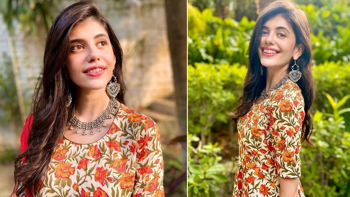 Sanjana Sanghi Is Bundling Up Some Narangi Sass With Phool Jaal and That Radiant Smile!