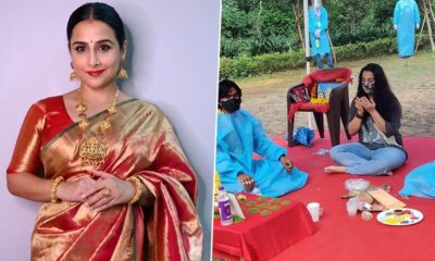 Sherni: Vidya Balan Resumes Shoot of Her Next in Madhya Pradesh's Balaghat Forest (View Pics)