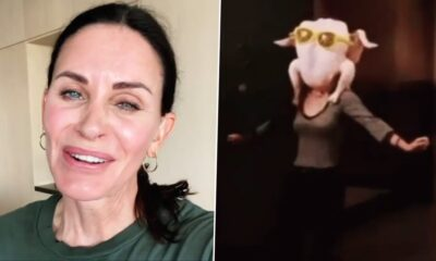 Courteney Cox Wishes Friends Fans Happy Thanksgiving by Re-Creating Turkey Head Dance (Watch Video)