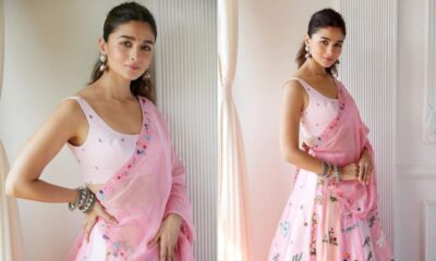 Diwali 2020: Alia Bhatt's Ethnic Outfit Is a Breeze of Pink, In Sync With The Spirit of the Festival (View Pics)