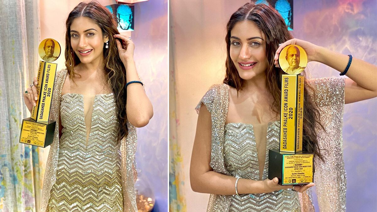 Naagin 5 Actress Surbhi Chandna Bags The Dadasaheb Phalke Icon Award Films 2020 For Best Actress (View Pic)