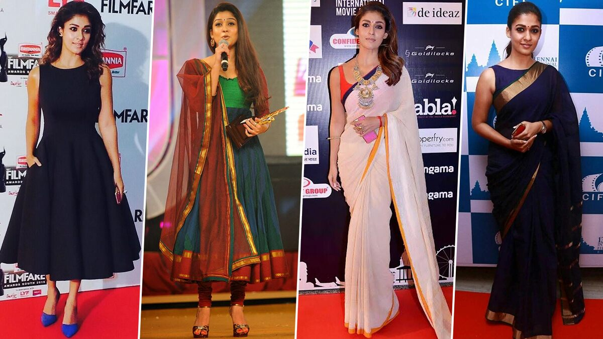 Nayanthara Birthday Special: Simplicity Has a Permanent Place in Her Fashion Wardrobe (View Pics)