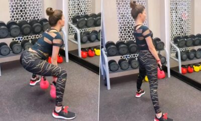Urvashi Rautela Compares Squats Exercise with Life's Mantra of Ups and Downs (Watch Video)
