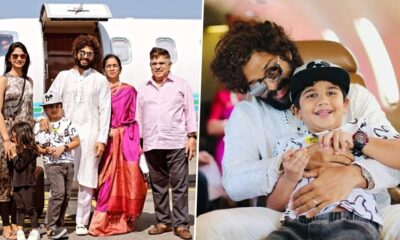 Allu Arjun and Family Leave for Udaipur in Style to Attend Niharika Konidela and Chaitanya JV's Destination Wedding (View Pics)