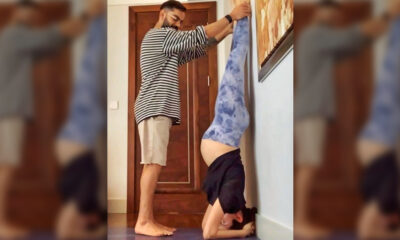 Anushka Sharma Nails the Shirshasana Pose but It Is Virat Kohli Who Should Get the Credit (View Pic)