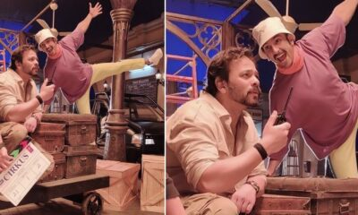 Cirkus: A Goofy Ranveer Singh Is Elated to Be Directed by Rohit Shetty in the New Still From the Sets of the Film (View Pic)