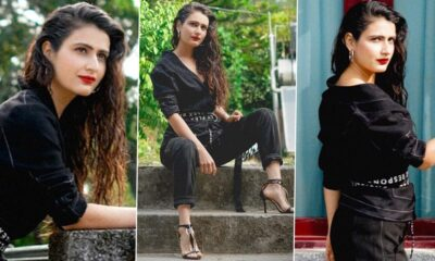 Fatima Sana Shaikh Is Working Off That Deadly Combination of Monochrome, Red Lips, High Heels and Textured Hair!