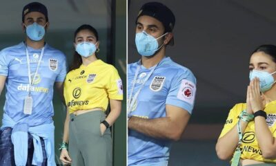 Ranbir Kapoor and Alia Bhatt Enjoy a Football Match at Indian Super League 2020 in Goa (View Pics)