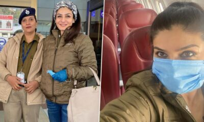 Raveena Tandon Flies Back Home After One of Her Longest Outdoor Shooting Schedules