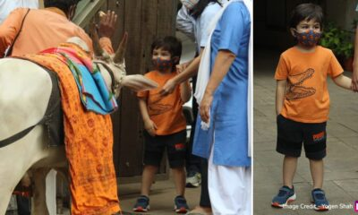 Kareena Kapoor Khan's Little Munchkin Tamiur Gets Excited As He Greets a Friendly Guest Outside His House