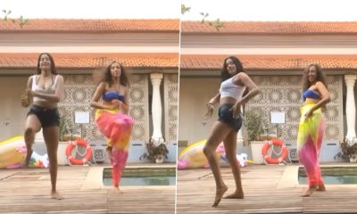 Janhvi Kapoor Takes Up Cardi B's Up Challenge, Actress Dances With Her Trainer Namrata Purohit at Poolside – WATCH