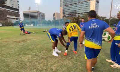 Lungi Ngidi Whacks Narayan Jagadeesan While Playing Football Ahead of CSK's IPL 2021 Match Against RR (Watch Video)