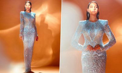 Yo or Hell No? Nora Fatehi's Sheer Bodycon Dress By Naeem Khan