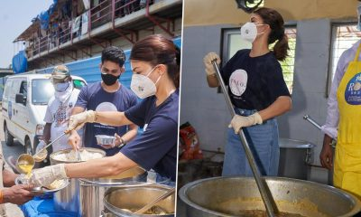 Jacqueline Fernandez Distributes Meals in Mumbai Amid COVID-19 Crisis