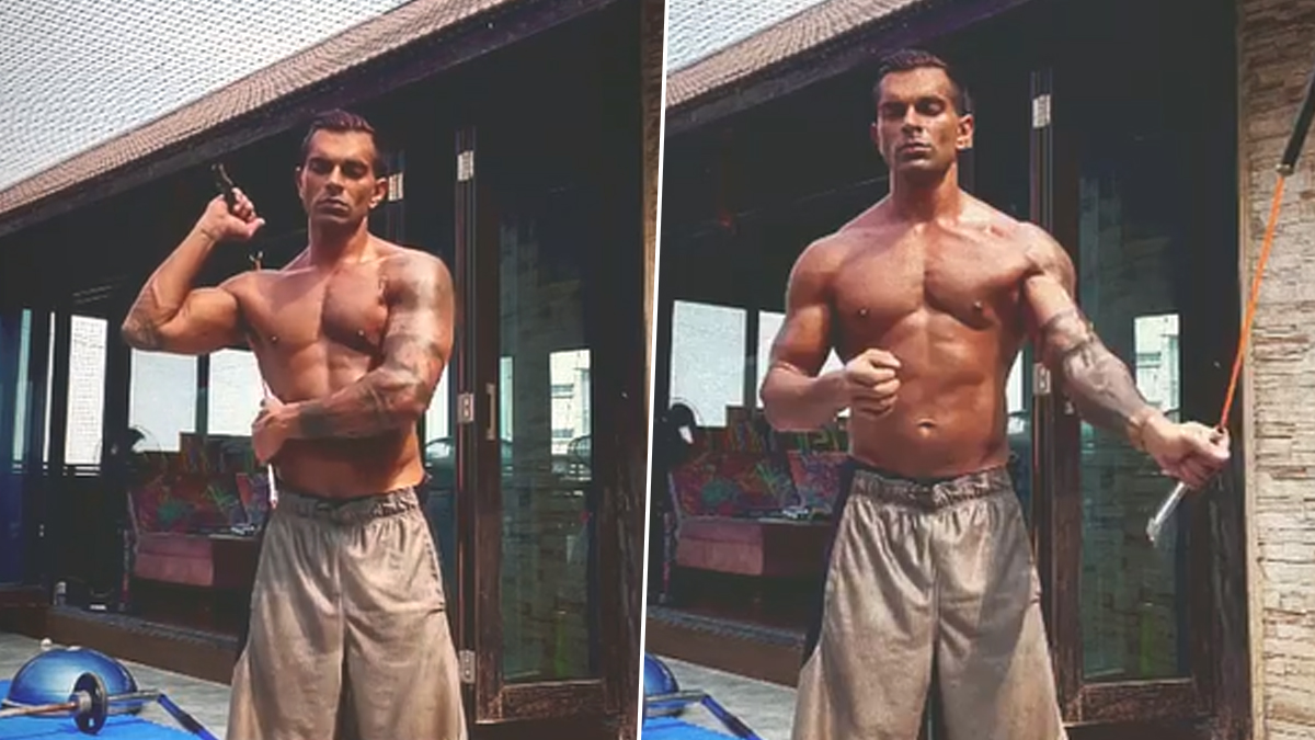 Karan Singh Grover Flaunts His Chiseled Body During Workout, Says 'Face Everything and Rise' - WATCH
